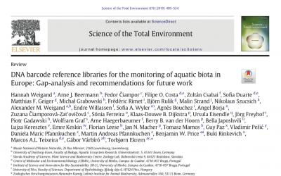 Aquatic biota Barcoding data reviewed